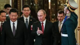 Ông Tập Cận Bình và Putin