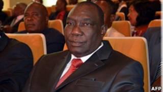 Le chef du mouvement rebelle, Séléka, Michel Djotodia, le 17 janvier à Bangui.