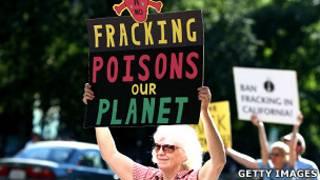 Protestas contra la fracturación hidráulica en California