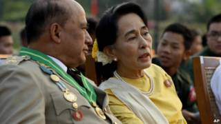 آنگ سن سوچی، رهبر مخالفان در برمه
