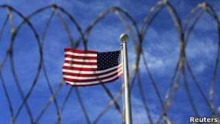 Американский флаг на базе Гуантанамо