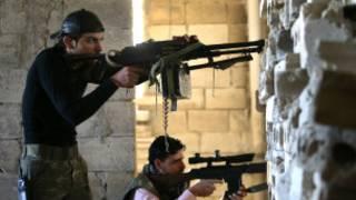 Suriye'de savaşan çockular