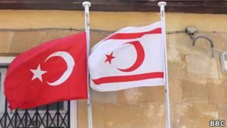 Флаги Северного Кипра и Турции
