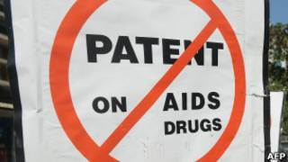 Protest against patent on drugs