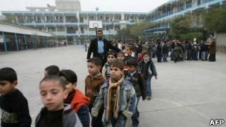 Палестинские школьники
