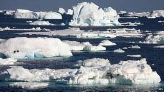 hielo marino en la Antártica