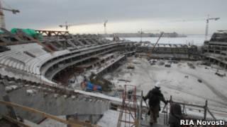 """Строительство """"Зенит-арены"""" в Санкт-Петербурге"""