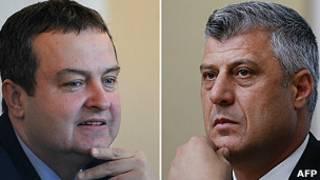 Ivica Dacic y Hashim Thaci