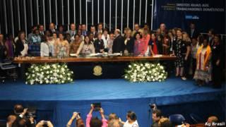 Congresso promulga PEC das domésticas   Foto: Agência Brasil