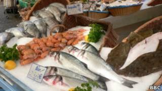 Рыбный рынок во Франции