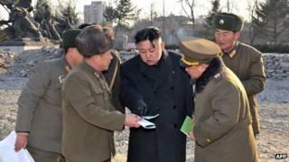 Lãnh đạo Bắc Hàn Kim Jong-un và các chỉ huy quân đội