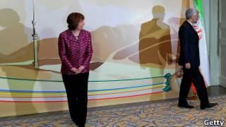 Саид Джалили и Кэтрин Эштон на переговорах по ядерной программе в Казахстане