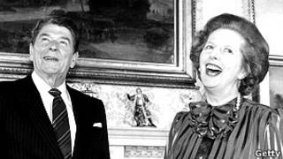 Ronald Reagan e Margareth Thatcher