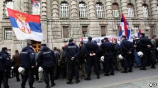 معترضان به طرح عادی سازی روابط در بلگراد