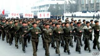 رژه در پایتخت کره شمالی