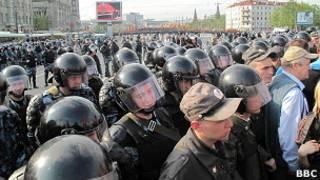 Кордон на Болотной 6 мая 2012
