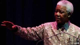 Nelson Mandela durante congresso do CNA em 1994 (foto: AP)