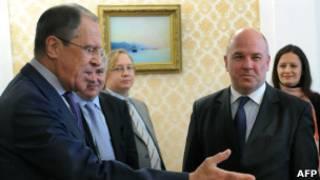Сергей Лавров и Нильс Муйжниекс
