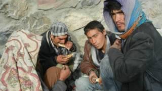 مدمنون في أفغانستان