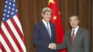 जॉन केरी चीन में