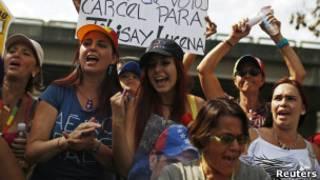 Protesto na Venezuela / Reuters