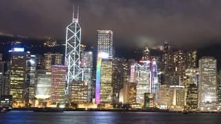 Ночной Гонконг (вид с бухты Виктория)