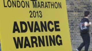 Señal para maratón de Londres