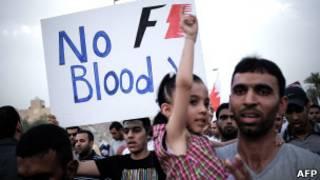 تظاهرات مخالفان در آستانه برگزاری مسابقات فرمول یک در بحرین شدت گرفته است.