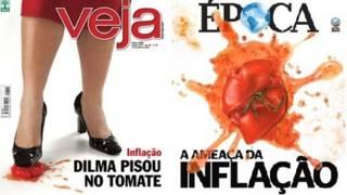 Portada de revistas brasileñas