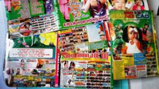 Bìa đĩa ca nhạc cho trẻ em in quảng cáo khiêu dâm