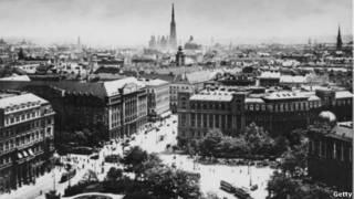 Centro de Viena em 1913 | Foto: AFP