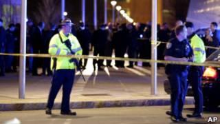 پلیس در محل تیراندازی