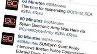 ABD'deki televizyon istasyonunun twitter hesabından bir görünüm
