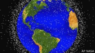 Gráfico de la NASA sobre basura espacial en la órbita terrestre