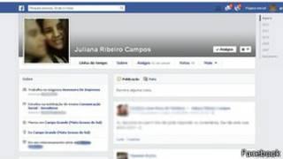 Perfil de Facebook de periodista