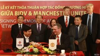 Lễ ký thỏa thỏa thuận giữa BIDV và Manchester United