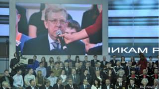 Алексей Кудрин участвует в телемосте Владимира Путина 25 апреля 2013 года