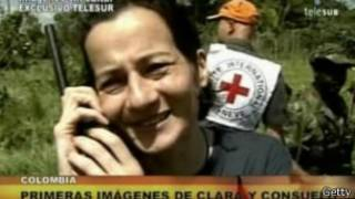 Primeras imágenes de Clara Rojas tras su secuestro por las Farc