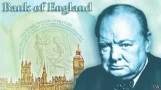 Портрет Черчилля на 5-фунтовой банкноте