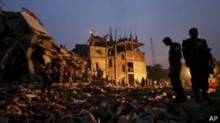 Edificio derrumbado en Dhaka, Bangladesh