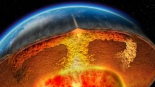 Representação gráfica do centro da Terra