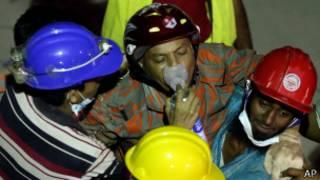Пожарный, отравившийся дымом