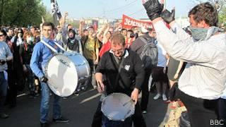 """Во время """"массовых беспорядков"""" на Болотной"""