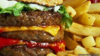 hambúrguer e batatas fritas (foto: Science Photo Gallery)