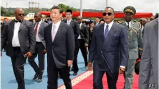 Xi Jinping no Congo (Foto AFP)
