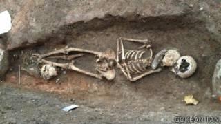 Marmaray kazıları sırasında bulunan Neolitik Çağ'dan kalma bir arkeolojik kalıntı