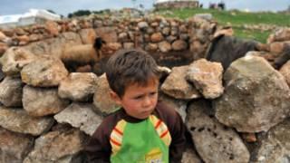 طفل من اللاجئين السوريين في تركيا