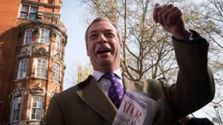 Лидер UKIP Найджел Фарадж