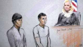 Появление Тажаякова и Кадырбаева перед судом