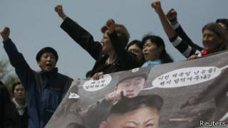 protesta corea norte sur